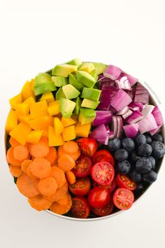 Rainbow Salad and Raw Vegan Tomato Dressing | Minimal Eats