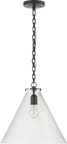 KATIE LARGE FITTER PENDANT WITH LARGE CONICAL GLASS - Circa lighting