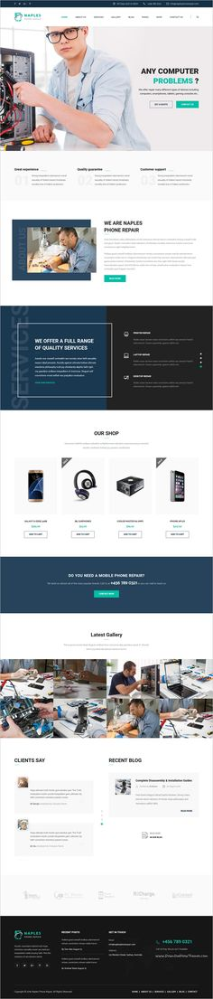 Naples is a wonderful responsive 3in1 #HTML Bootstrap template for #electronics, phone, computer #repair shop website download now➩ https://themeforest.net/item/naples-phone-computer-repair-shop-website-template/19013137?ref=Datasata