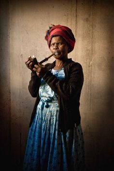 speak to this woman in her own language - Xhosa woman, Khayelitsha Western Cape