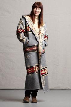Reversible Long Coat, Crossroads Women's Pendleton Wool Fabric Coat  http://www.kraffs.com/755207/products/Reversible-Long-Coat-Crossroads.html