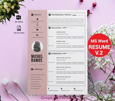 To get the job, you a need a great resume. The professionally-written, free resume examples below can help give you the inspiration you need to build an impressive resume of your own that impresses… Teacher Resume Template, Modern Resume Template, Resume Template Free, Creative Resume Templates, Templates Free, Office Templates, Free Resume, Flyer Template, Resume Tips