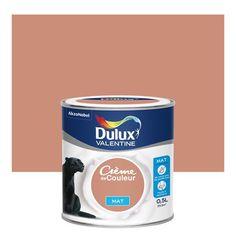 peinture_cuivre_rose_mat_dulux_valentine_creme_de_couleur_0_5_l Dulux Valentine, Beige Paint, Home Cinemas, Color Of Life, Room Paint, Leroy Merlin, Texture, Applique, Support