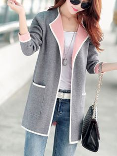 Women's Clothing Coat Sweater Cardigan For Women Oversized 2018 New Autumn Winter Sweaters Korean Style Female Fashion Tops 050 Trendy Tops For Women, Cardigans For Women, Women's Cardigans, Cool Outfits, Casual Outfits, Fashion Outfits, Fashion Coat, Fashion Women, Fashion Clothes