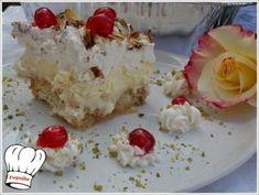 ΕΚΜΕΚ ΜΕ ΤΣΟΥΡΕΚΙ!!! - Νόστιμες συνταγές της Γωγώς! Feta, Grains, Pudding, Cheese, Desserts, Recipes, Greek, Tailgate Desserts, Deserts
