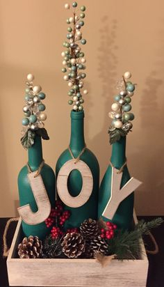 Awesome Home Decor Ideas on a Budget - Repurposed DIY Wine Bottle Crafts- Repu. Awesome Home Decor Ideas on a Budget – Repurposed DIY Wine Bottle Crafts- Repurposed DIY Wine B Glass Bottle Crafts, Diy Bottle, Wine Bottle Art, Christmas Wine Bottles, Painted Wine Bottles, Decorate Wine Bottles, Wine Bottles Decor, Wine Bottle Decorations, Wrapped Wine Bottles