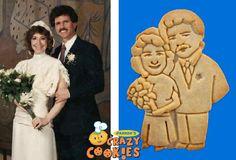 Wedding Anniversary Favors - Custom Cookie