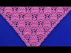 Punto para chal triangular, en V o en punta a crochet paso a paso con puntos garbanzos - YouTube