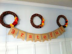 The Sweeting Spot: Fall burlap banner How to. So cute
