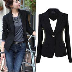 Women's  Fashion One Button Slim Casual Business Blazer Suit Jacket Coat Outwear #Unbranded #Blazer
