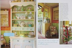 Vintage Home, I want this china cabinet