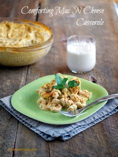 #vegan, #glutenfree and #dairyfree Mac and Cheese Casserole