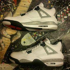 Air Jordan 4 Retro White Cement Size 15 #Nike #BasketballShoes