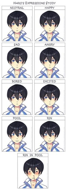 Free! Iwatobi Swim Club -Haruka's emotions// so accurate it hurts!