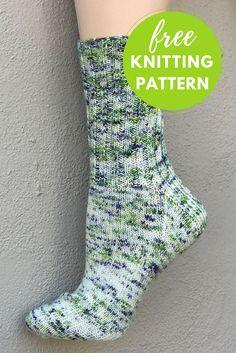 Happy Feet Socks Free Knitting Pattern. Ribbed Sock pattern suitable for men or women