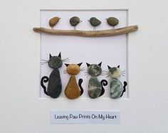 Pebble art cat mothers day gift for mom engagement gift unique birthday gift for her fathers . - Pebble art cat mothers day gift for mom engagement gift unique birthday gift for her fathers day gift anniversary gift family pebble art dog, Unique Birthday Gifts, Birthday Gifts For Her, Art Birthday, Birthday Images, Birthday Presents, Birthday Ideas, Happy Birthday, Birthday Crafts, Birthday Messages