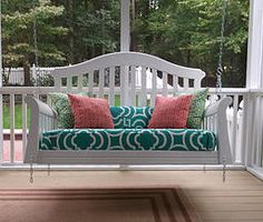 Old crib upcycled into porch swing - K'Mayzing Swings in NC