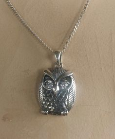 owl sterling silver bird pendant alternative by youareoutthere, $40.00