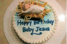 Darling Happy birthday Jesus cake.