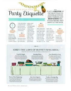 Ettiquette | how to proper set a buffet | Party Etiquette