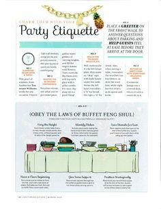 Ettiquette | how to proper set a buffet | Party Etiquette
