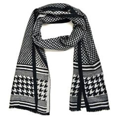 Black and White Houndstooth Scarf by TheDapperTie. Buy for $11 from buy.com