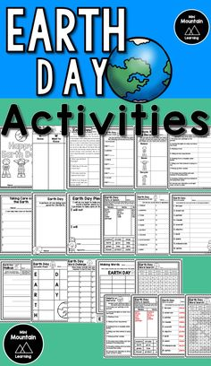 Earth Day Activities for kids/ Earth Day printables/ Earth Day Activities for elementary Earth Day Activities, Writing Activities, Activities For Kids, All About Earth, Love The Earth, Earth Day Poems, Earth Day Coloring Pages, Teaching Secondary, M Learning