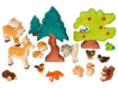 Holztiger Waldszene