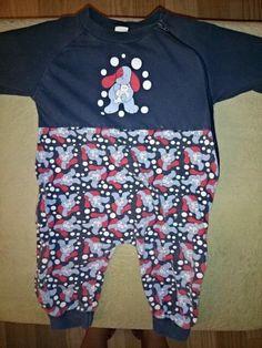 Schlafanzug ohne Füße mit Reißverschluss