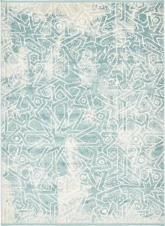 Blue New Vintage Area Rug