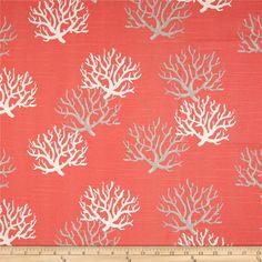 Premier Prints Isadella Coral Slub Salmon - Discount Designer Fabric -  Fabric.com