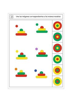 Spanish Classroom Activities, Math Classroom Decorations, Preschool Learning Activities, Preschool Printables, Infant Activities, Kids Learning, Visual Perception Activities, Fun Worksheets For Kids, Shapes For Kids