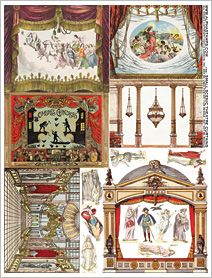 Small Scenic Theatre Curtains Collage Sheet
