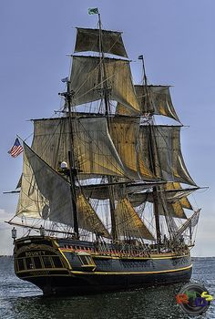 The HMS Bounty Tall Ship - Halifax Harbour by Rodney Hickey Design Studio