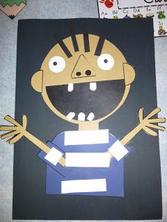My David Goes to School craftivity done by a kinder teacher in AUSTRALIA!! Visit Fall Into First to get this FREEBIE!