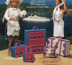 """""""LUGGAGE""""~Plastic Canvas PATTERN ONLY fits BARBIE FASHION DOLL picclick.com"""
