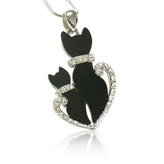 Beautiful+Black+Cats+Necklace+ ... see more at PetsLady.com ... The FUN site for Animal Lovers