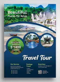 travel poster design Travel and Tour Flyer Promo Template PSD Graphic Design Flyer, Creative Poster Design, Flyer Design Templates, Web Design, Poster Designs, Travel Brochure Design, Travel Design, Tour Posters, Travel Posters