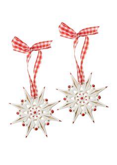 VILLEROY & BOCH  Set of 2 Winter Bakery Decoration Snowflakes III