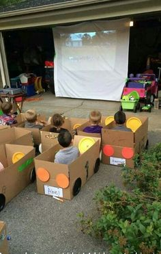 Funny pictures about Kids' Drive-In Movie. Oh, and cool pics about Kids' Drive-In Movie. Also, Kids' Drive-In Movie photos. Cardboard Car, Drive In Movie Theater, Movie Drive, Movie Party, Party Fun, Car Party, Sleepover Party, Kid Movies, Family Movies