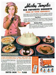 Shirley Temple Ads | Shirley Temple ad! | Old Ads | Pinterest