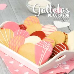HEART COOKIES - Show your how much you love her with these rich from ❤️ Show your - Sweet Desserts, Christmas Desserts, Delicious Desserts, Dessert Recipes, Yummy Food, Fun Easy Recipes, Sweet Recipes, Cookie Gifts, Cookie Gift Boxes