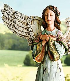 Country Angel...Angels are mentioned about 300 times in the Bible, with two holy angels mentioned by name, Michael and Gabriel; and a third, Raphael, in the apocrypha. Angels are said to protect and guide us as we go about our imperfect lives. Stories abound of kindly, beautiful strangers who suddenly appear and provide life-saving assistance, and then vanish without a trace. Angels? Could be. And we like having them around!
