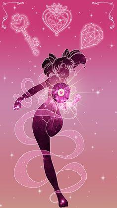 Sailor Chibimoon Lockscreen, Sarah Meadows on ArtStation at https://www.artstation.com/artwork/oPJLB