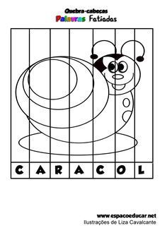 Atividade para alfabetização: jogo educativo quebra-cabeças palavras fatiadas ilustradas grátis para imprimir! - ESPAÇO EDUCAR