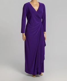 Another great find on #zulily! Iris Embellished Wrap Gown - Plus by R&M Richards #zulilyfinds