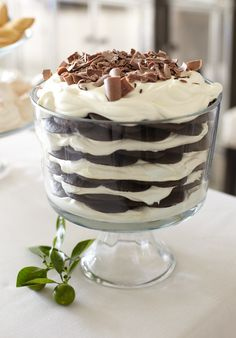 The Pier 1 Large Trifle Bowl is great at holding delectable desserts