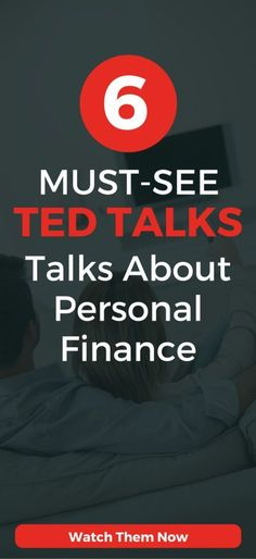 6 Must-See Inspirational TED Talks about personal finance, money management, and getting out of debt. : 6 Must-See Inspirational TED Talks about personal finance, money management, and getting out of debt. Inspirational Ted Talks, Inspirational Thoughts, Best Ted Talks, Money And Happiness, Financial Tips, Financial Assistance, Financial Planning, Retirement Planning, Budgeting Tips