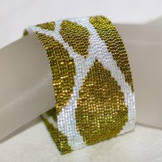 Spring Leaves ... Peyote Bracelet . Chartreuse . by time2cre8, $63.00 >> It's spring!  Time for some new jewelry.  :-)