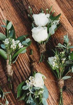wedding flowers Simple elegance boutonnieres perfect for any wedding. wedding flowers Simple elegance boutonnieres perfect for any wedding. Wedding Table Centerpieces, Wedding Flower Arrangements, Flower Centerpieces, Flower Bouquet Wedding, Floral Wedding, Fall Wedding, Our Wedding, Wedding Decorations, Tall Centerpiece